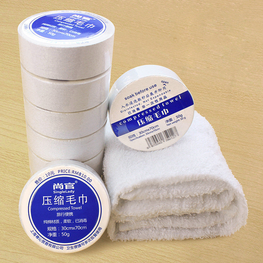 Compressed Towel Magic Travel Wipe Soft Cotton Expandable Just Add Water