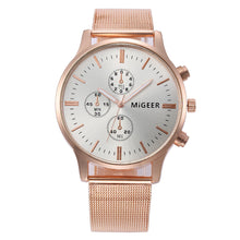 MIGEER Classic Unisex Steel Strap Watch