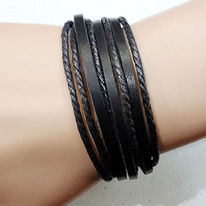 Unisex Leather Braided Rope Bracelet