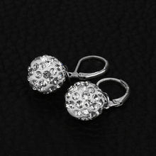 Snowflake Pendant Sterling Silver Earrings