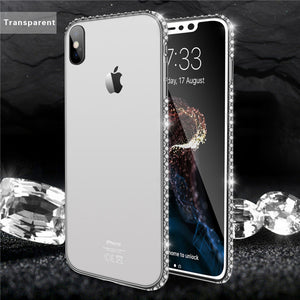 Lovebay Bling Diamond Soft Transparent TPU Crystal Case Cover