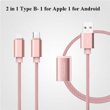 Micro/Type C 2 in 1 Cable Rock Nylon Braided USB Charging Cable
