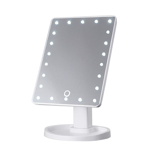 22 LED Lights Touch Screen Dimmable USB Power Supply Mirror