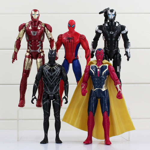 5pcs/set Superheroes PVC Action Figures Collectible Toy