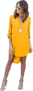 CDJLFH Long Sleeve Sexy Sundress