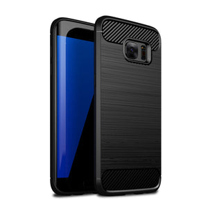 Brushed Texture Shockproof Protector Shell for Samsung Galaxy S7