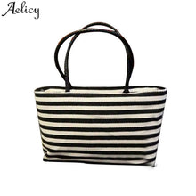 AELICY Summer Canvas Striped Bag