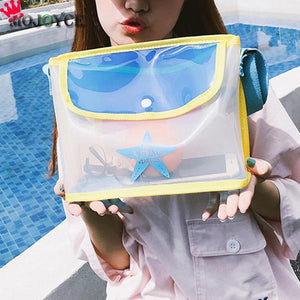 Summer Beach Waterproof Transparent Crossbody Bag