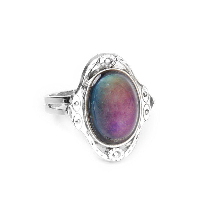 Adjustable Oval Color Change Mood Ring