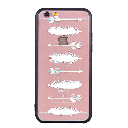 Arrowhead Feather Pattern Phone Case Soft Ultra Thin TPU Case for iPhone