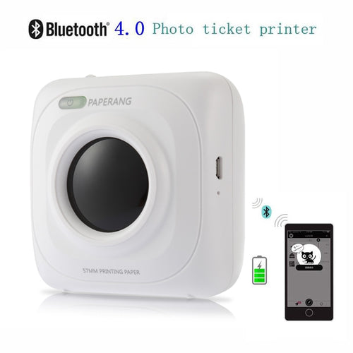 PAPERANG P1 Portable Bluetooth 4.0 Printer Thermal Photo Wireless Printer 1000mAh Lithium-ion Battery
