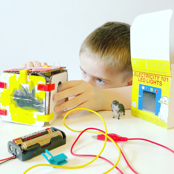 play based learning with LED lighting and circuits