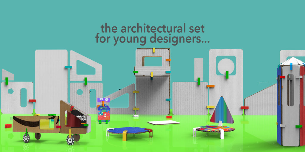 city made with 3dux/design architecture kits for early learning