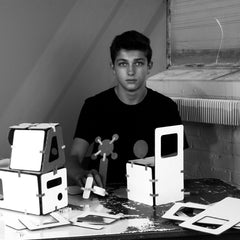 Ethan klein high school entrepreneur innovating with cardboard modeling set he designed
