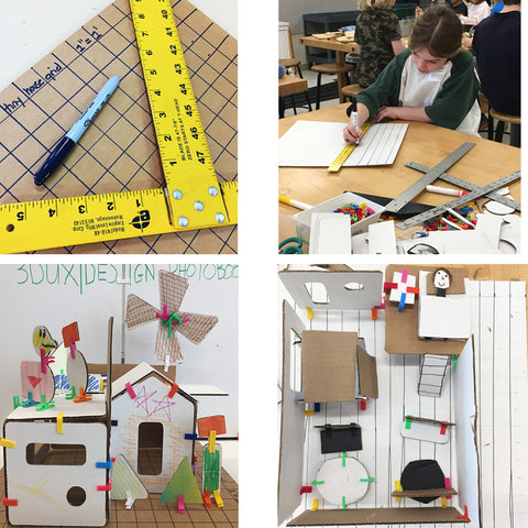 learning geometry STEM STEAM and engineering for kids with architecture and building kits