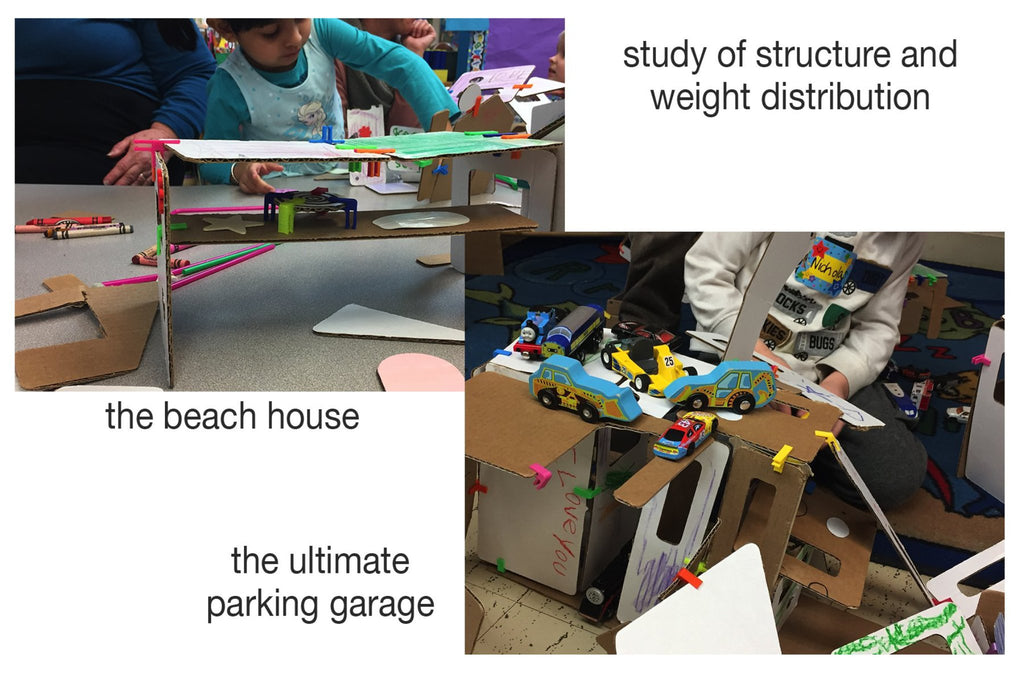 study of weight and balance with 3Dux/design building and modeling sets