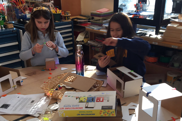 3rd grade student entrepreneur program learns about 3DuxDesign, a company founded by high school students