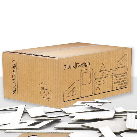 Cardboard refills for the classroom