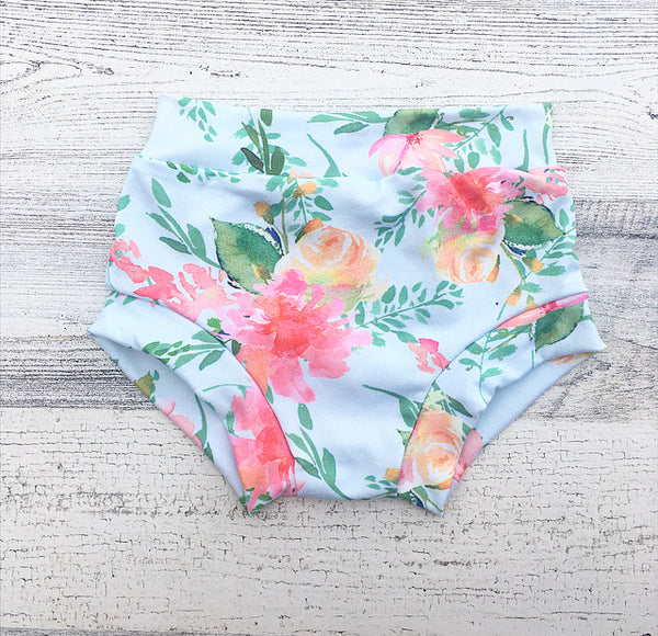 Watercolor Floral Bummies