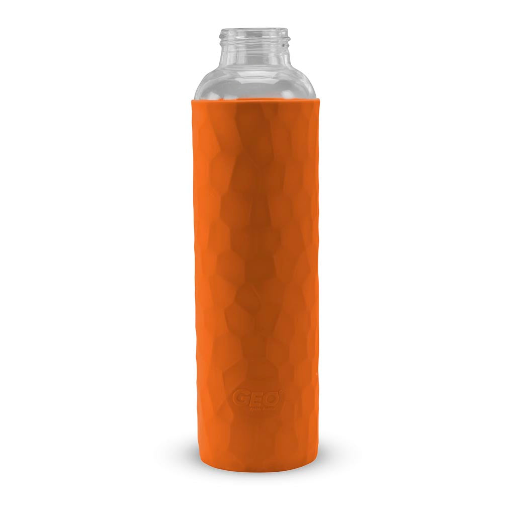 GEO 20oz. Glass Bottle with Rubber Sleeve