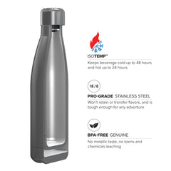 17oz Double Wall Vacuum Insulated Flask, Standard Mouth and POWDER FINISH