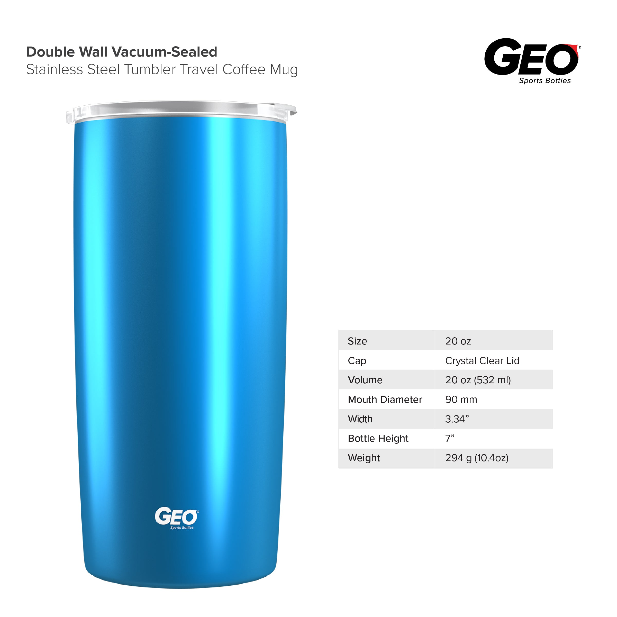 20oz Gloss Coated Double Wall Vacuum Insulated Coffee Tumbler