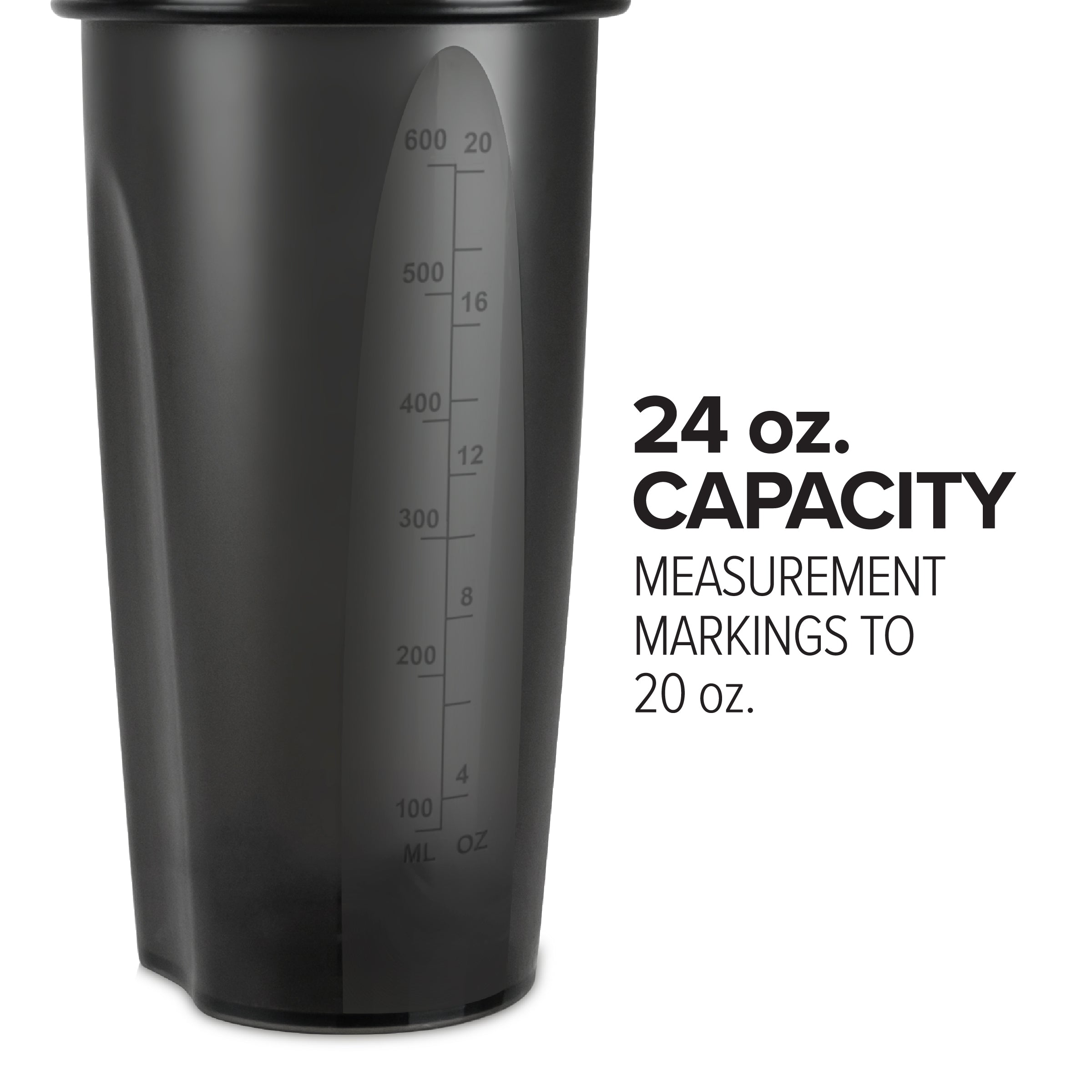 24oz Black Shaker Bottle