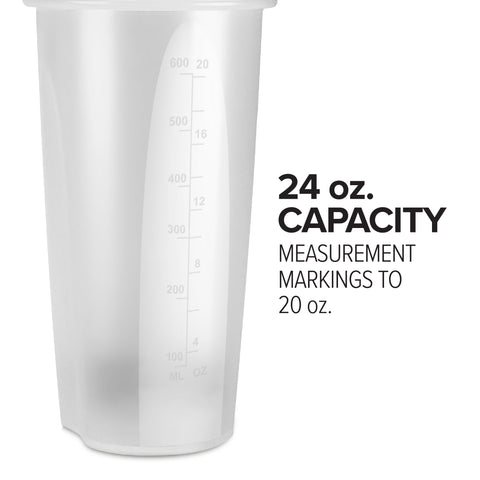 24oz Clear Shaker Bottle