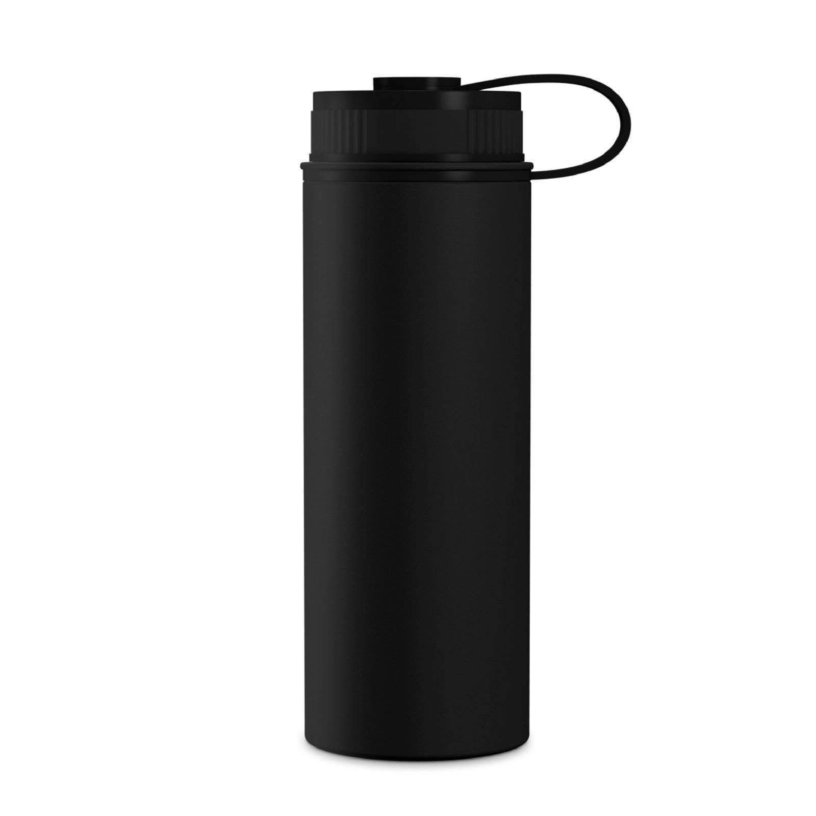 Geo Bottles Black 18oz Double Wall Vacuum Insulated Flask, Wide Mouth