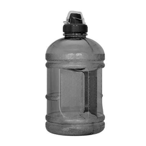 Geo Bottles Bottles Black 1/2 Gallon (64 oz.) BPA FREE Plastic Water Bottle w/ 48mm Twist Cap