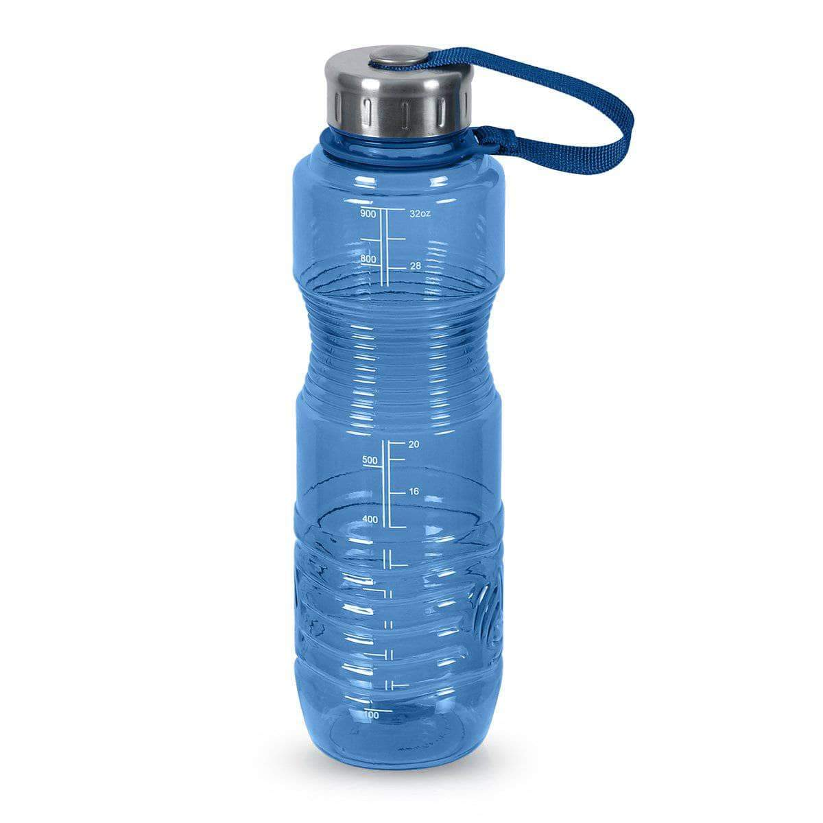 Geo Bottles Bottles Dark Blue 32oz Sports Bottle BPA Free w/ 48mm Steel Cap