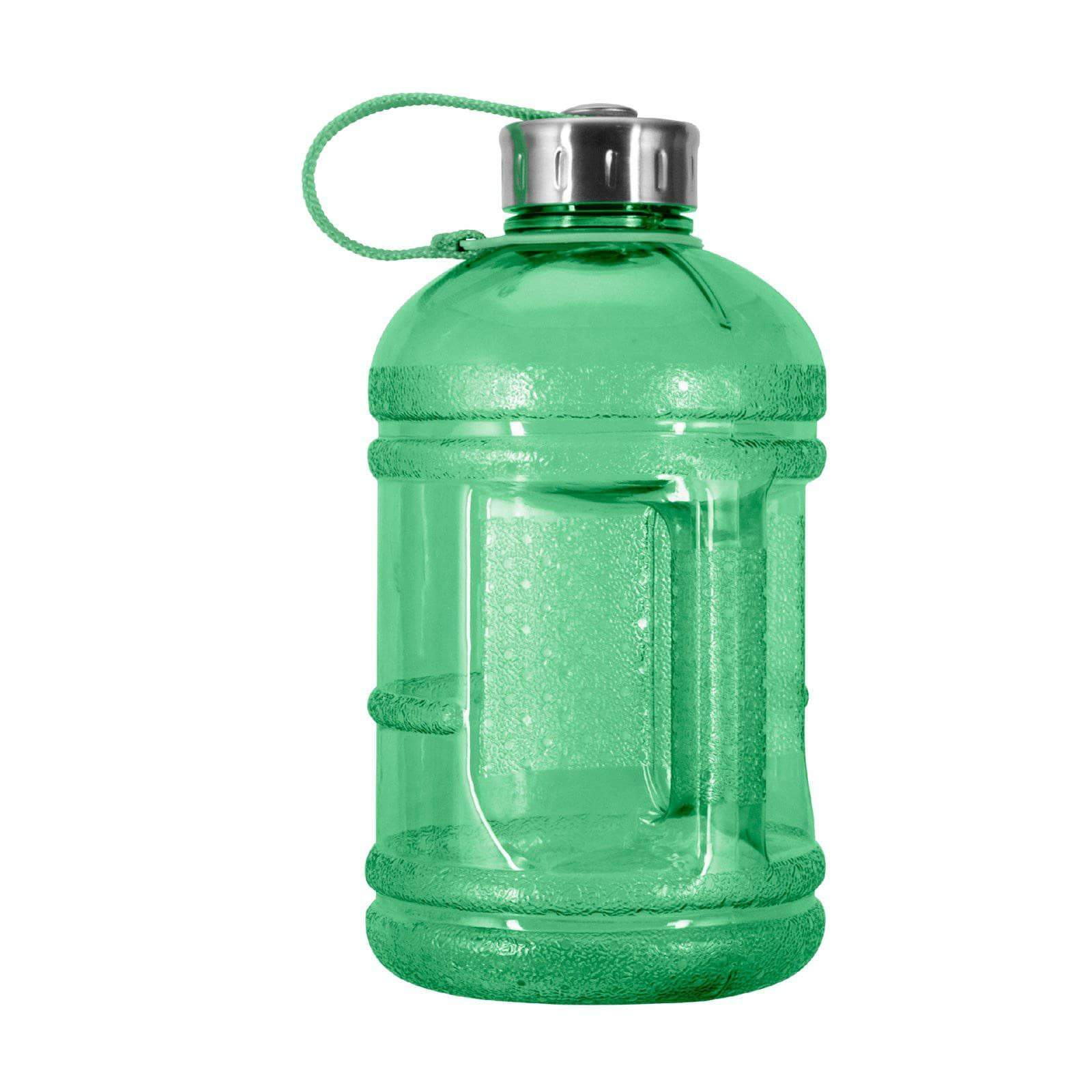 Geo Bottles Bottles Green 1/2 Gallon BPA FREE Plastic Water Bottle w/ 48mm Steel Cap