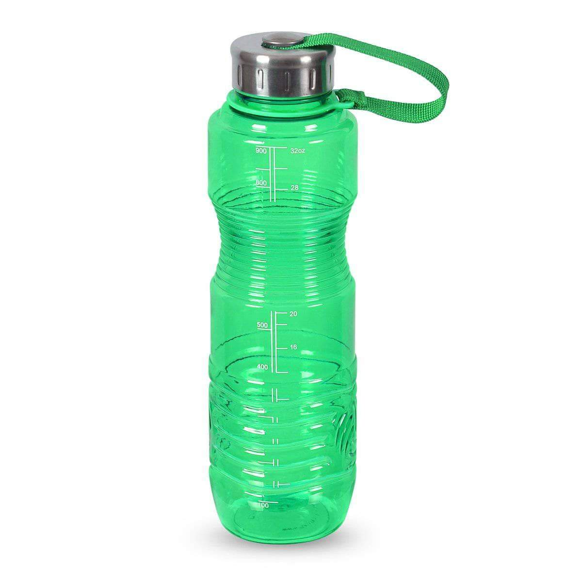 Geo Bottles Bottles Green 32oz Sports Bottle BPA Free w/ 48mm Steel Cap