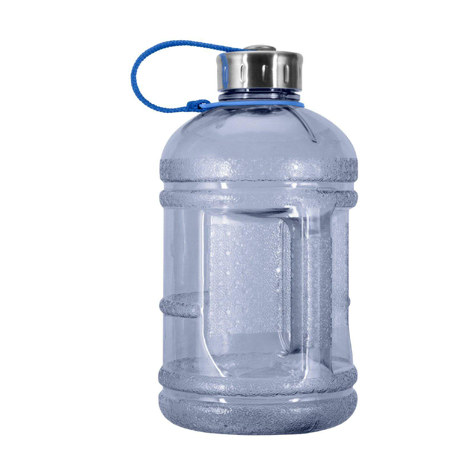 Geo Bottles Bottles Natural Blue 1/2 Gallon BPA FREE Plastic Water Bottle w/ 48mm Steel Cap