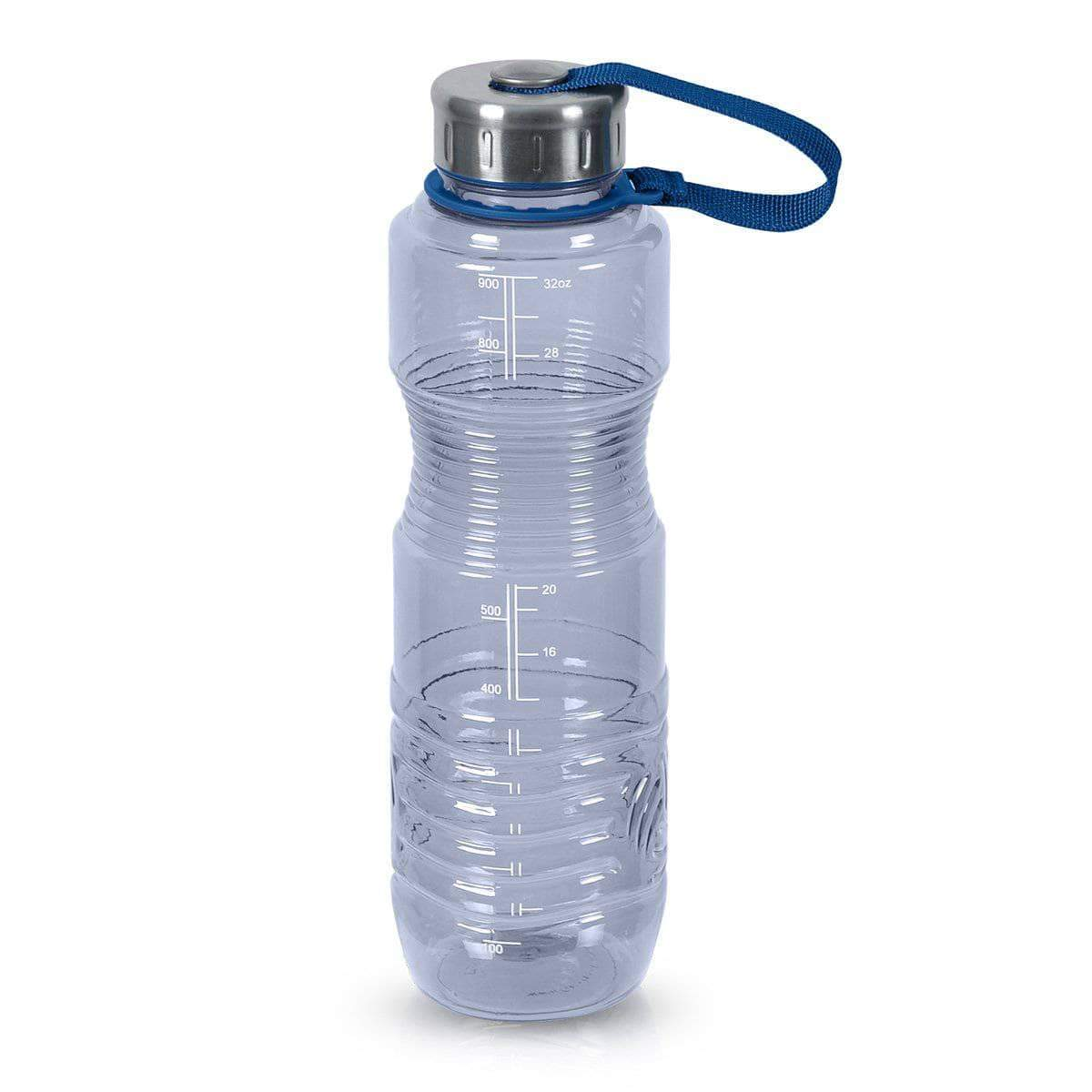 Geo Bottles Bottles Natural Blue 32oz Sports Bottle BPA Free w/ 48mm Steel Cap