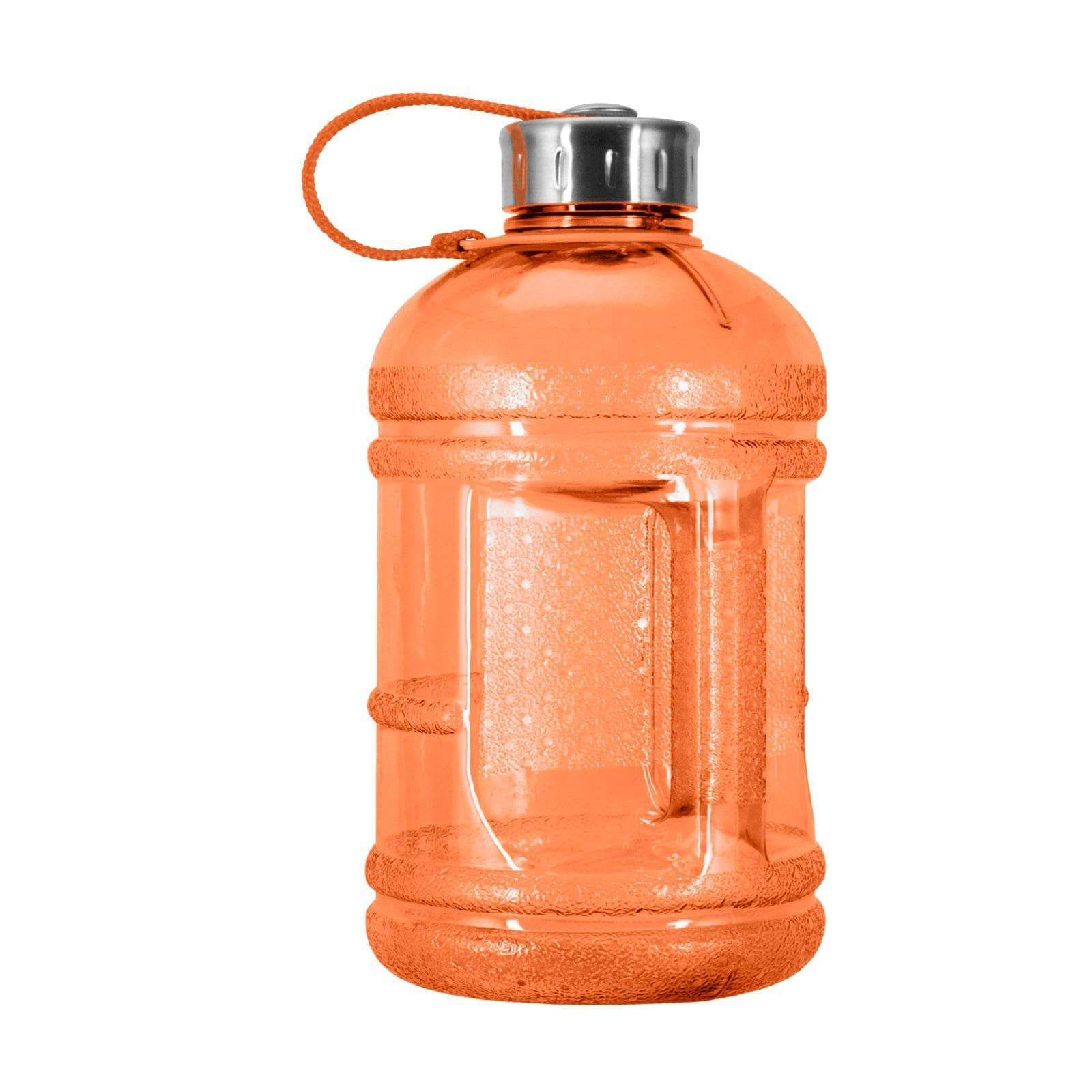 Geo Bottles Bottles Orange 1/2 Gallon BPA FREE Plastic Water Bottle w/ 48mm Steel Cap