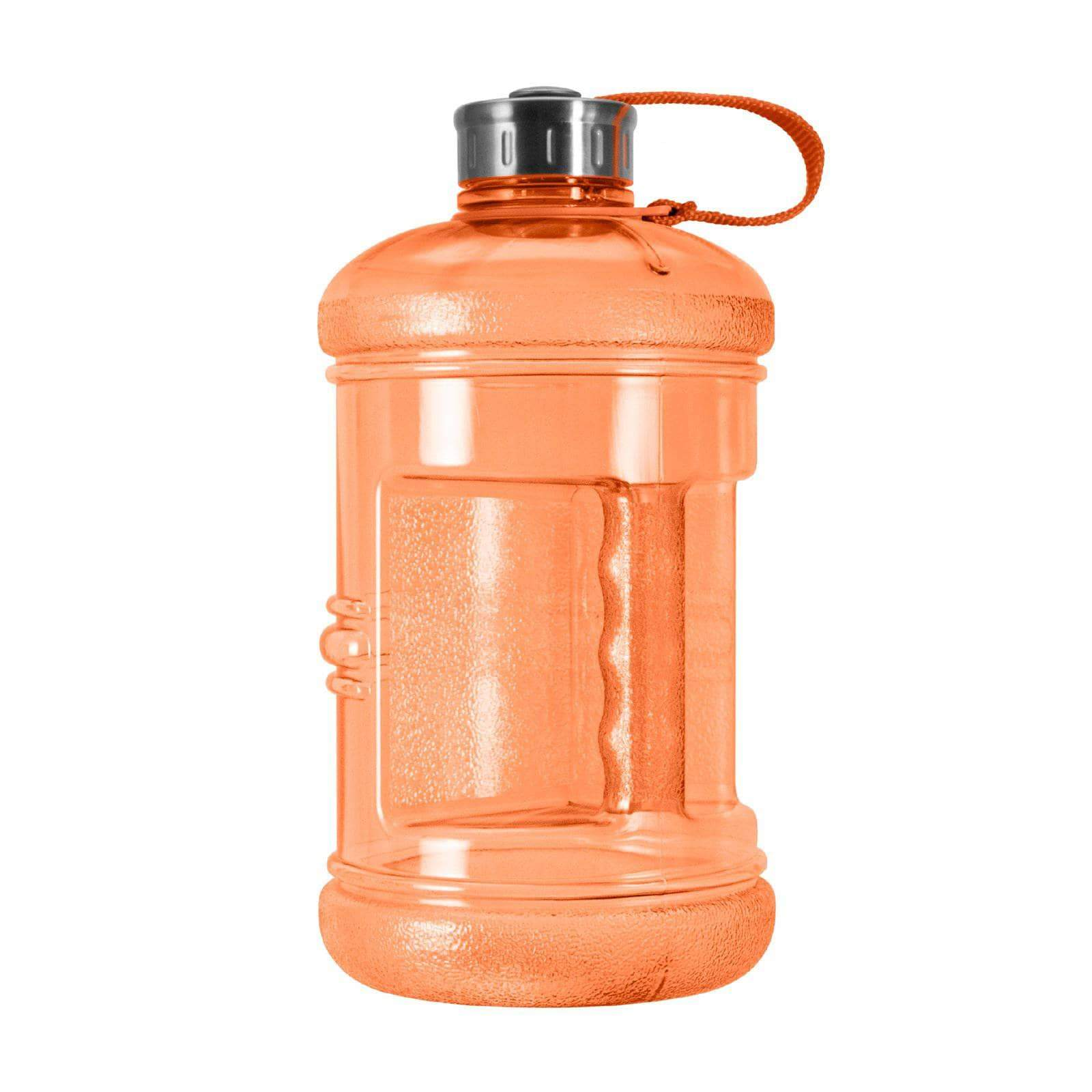 Geo Bottles Bottles Orange 2.3 Litter BPA FREE Bottle w/ Stainless Steel Cap