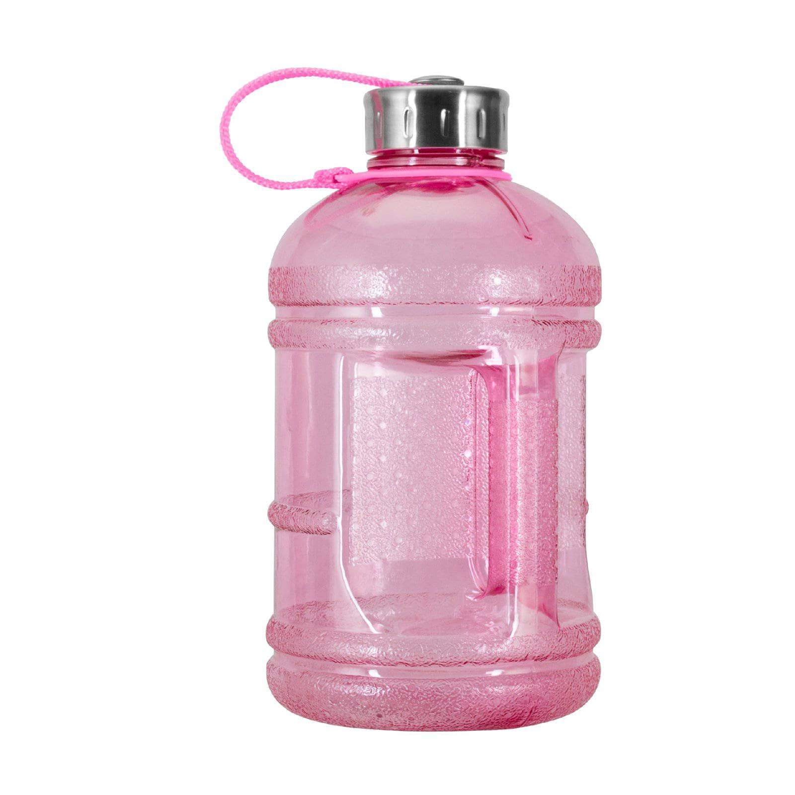 Geo Bottles Bottles Pink 1/2 Gallon BPA FREE Plastic Water Bottle w/ 48mm Steel Cap