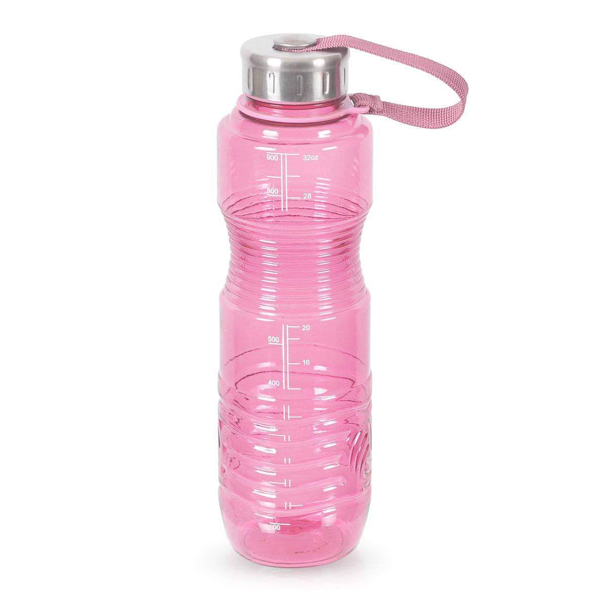 Geo Bottles Bottles Pink 32oz Sports Bottle BPA Free w/ 48mm Steel Cap