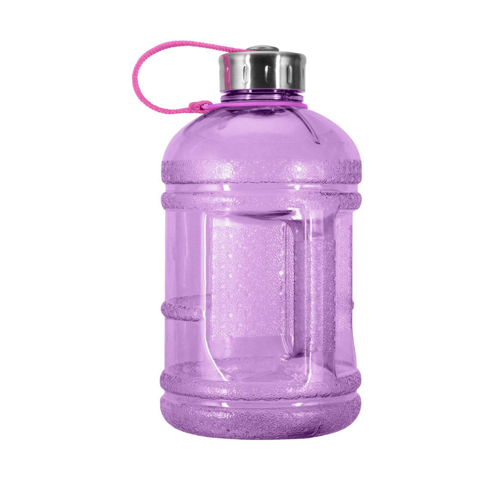 Geo Bottles Bottles Purple 1/2 Gallon BPA FREE Plastic Water Bottle w/ 48mm Steel Cap