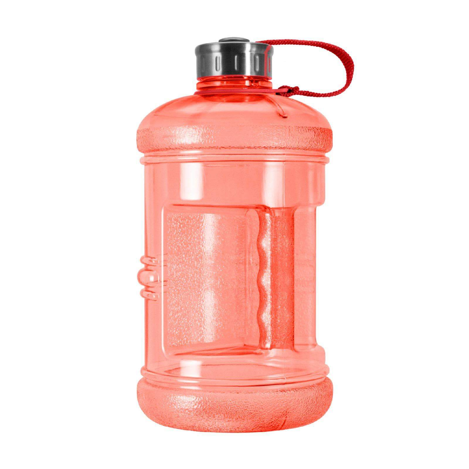 Geo Bottles Bottles Red 2.3 Litter BPA FREE Bottle w/ Stainless Steel Cap