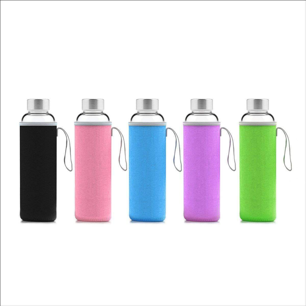 Geo Bottles Glass Bottles 18oz Hot and Cold Glass Bottle
