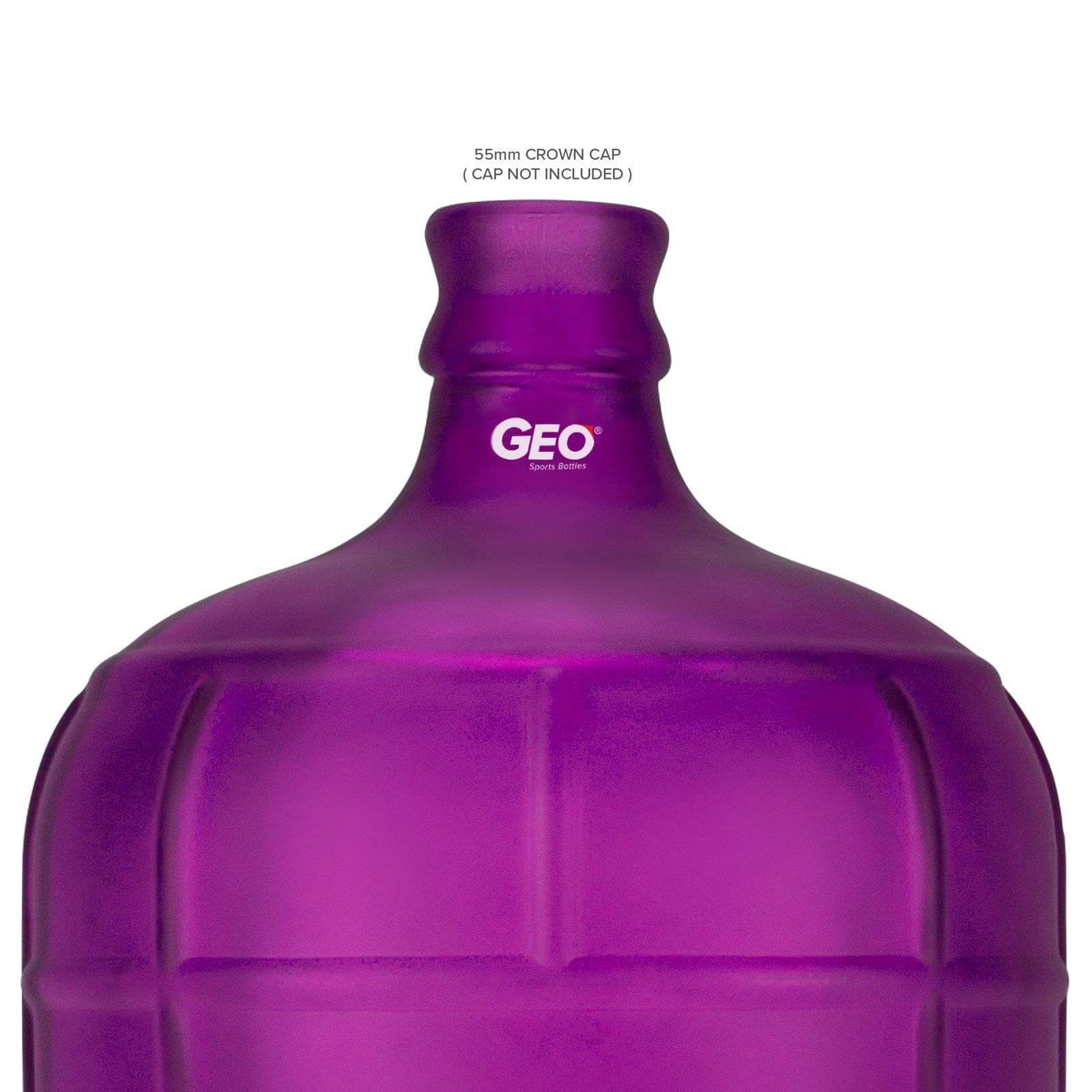 Geo Bottles Glass Bottles 3 Gallon Round Frosted Glass Carboy w/55mm Crown Top
