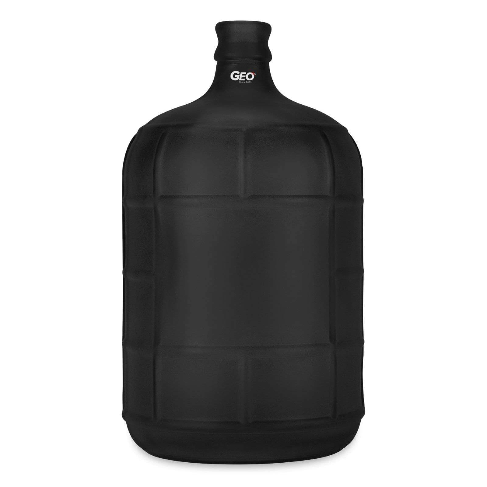 Geo Bottles Glass Bottles Black 3 Gallon Round Frosted Glass Carboy w/55mm Crown Top