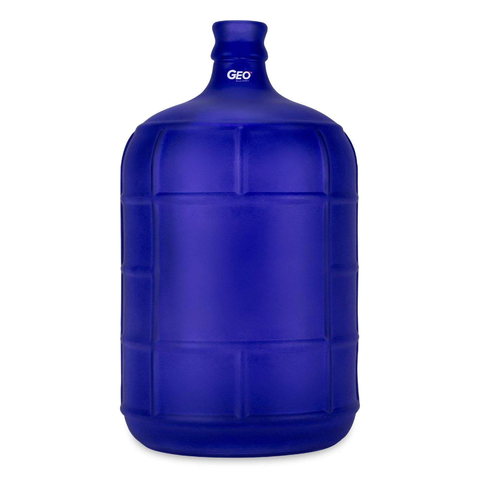 Geo Bottles Glass Bottles Dark Blue 3 Gallon Round Frosted Glass Carboy w/55mm Crown Top