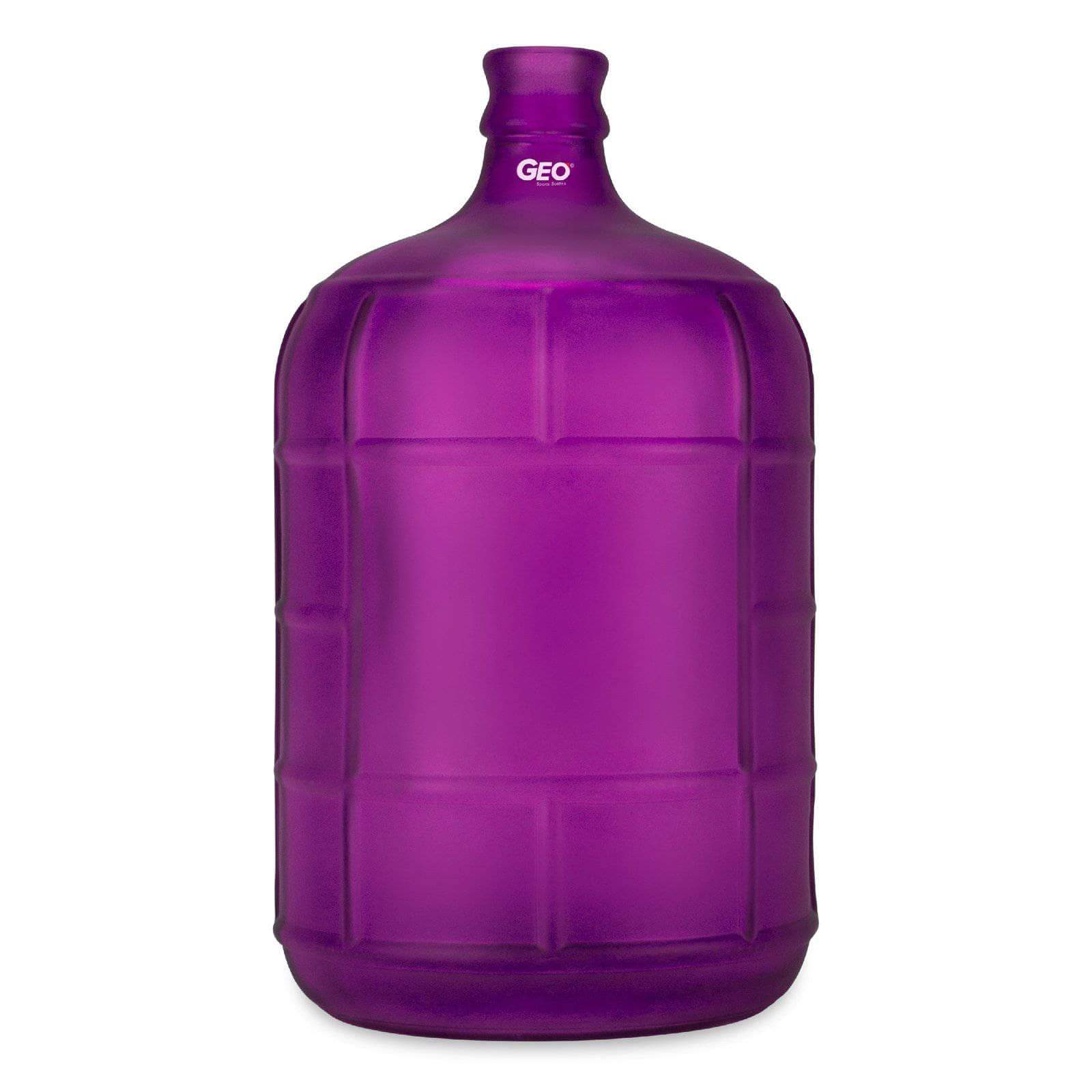 Geo Bottles Glass Bottles Purple 3 Gallon Round Frosted Glass Carboy w/55mm Crown Top