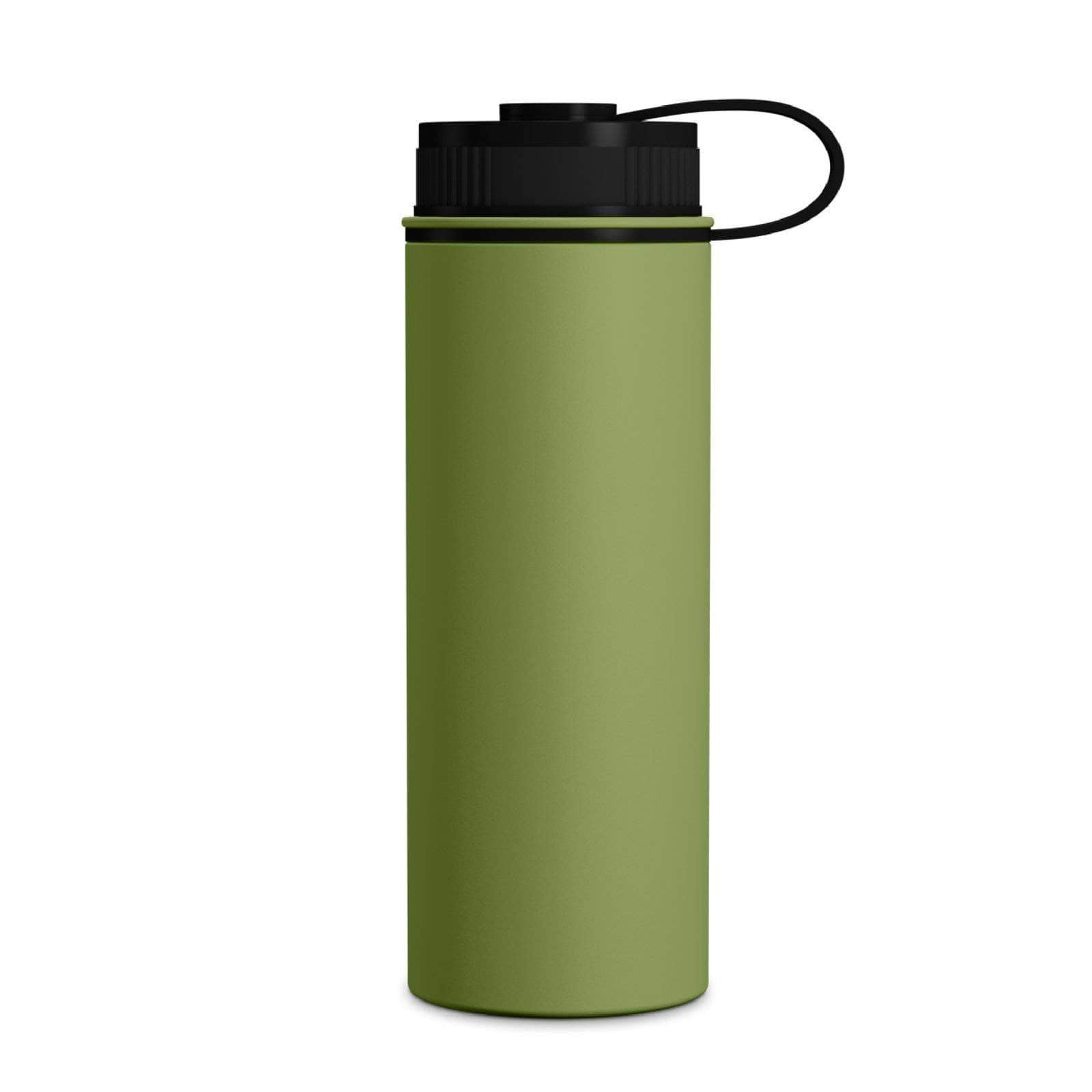 Geo Bottles Light Green 18oz Double Wall Vacuum Insulated Flask, Wide Mouth