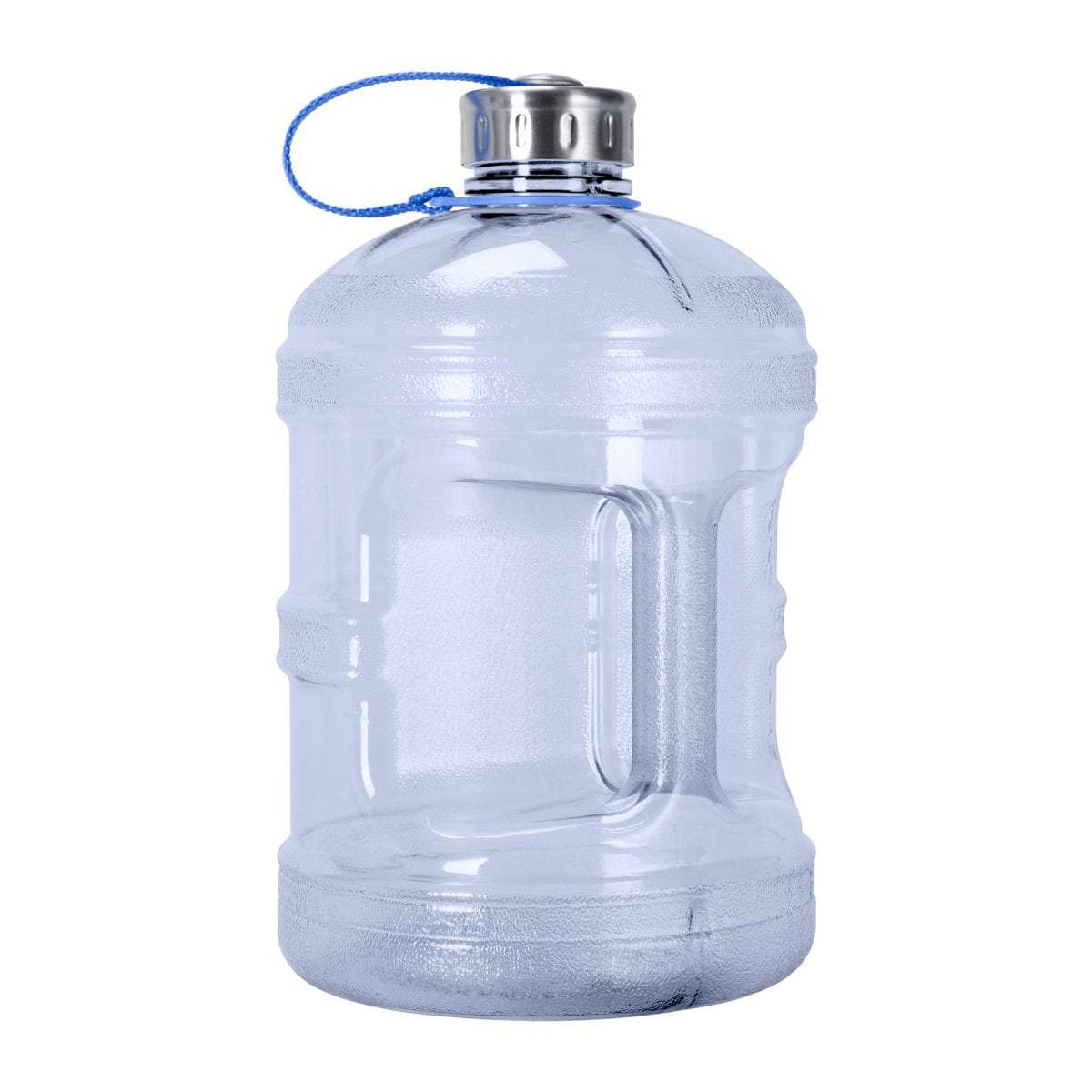 GEO Bottles Natural Blue 1 Gallon BPA FREE Bottle w/ Stainless Steel Cap