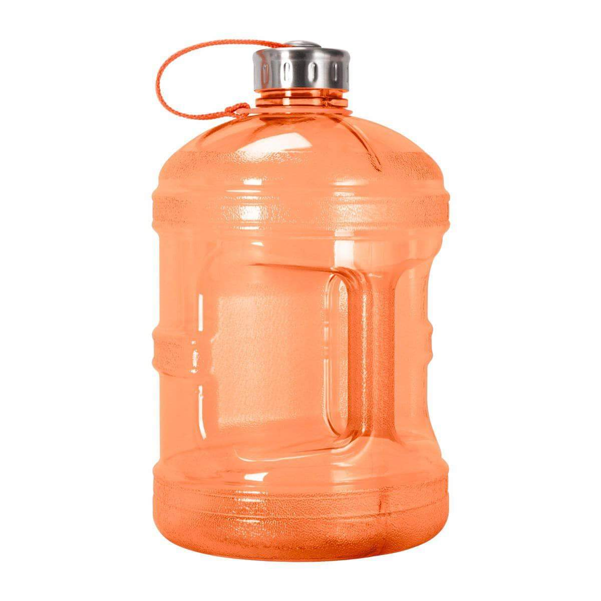 GEO Bottles Orange 1 Gallon BPA FREE Bottle w/ Stainless Steel Cap