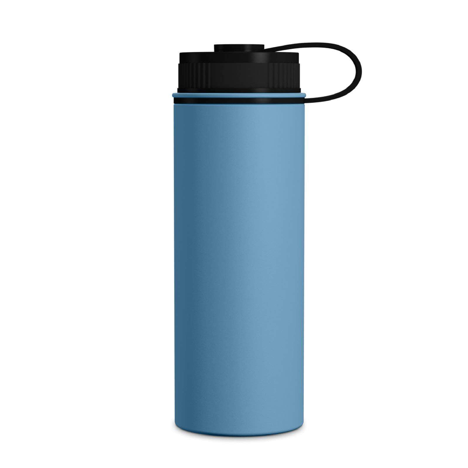 Geo Bottles Pacific Blue 18oz Double Wall Vacuum Insulated Flask, Wide Mouth